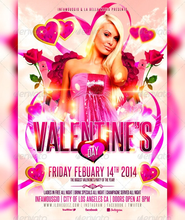 Valentines Day 4 - Events Flyers
