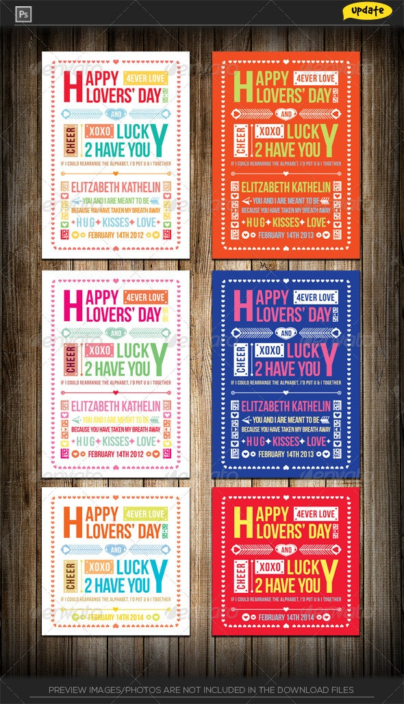 Valentine's Day Typography Greeting Card  - Holiday Greeting Cards