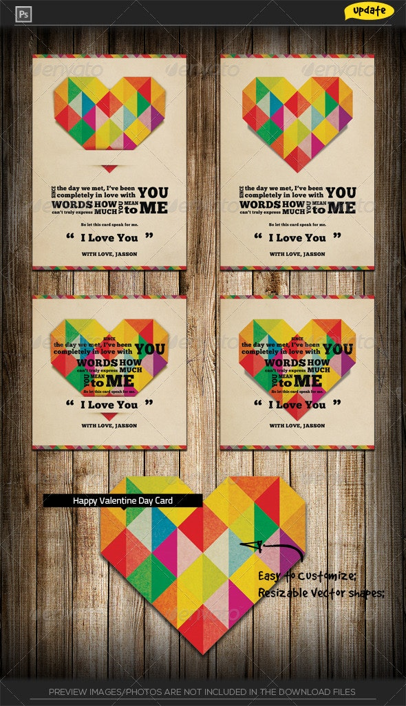 Valentine's Day Greeting Card - I Love You - Holiday Greeting Cards