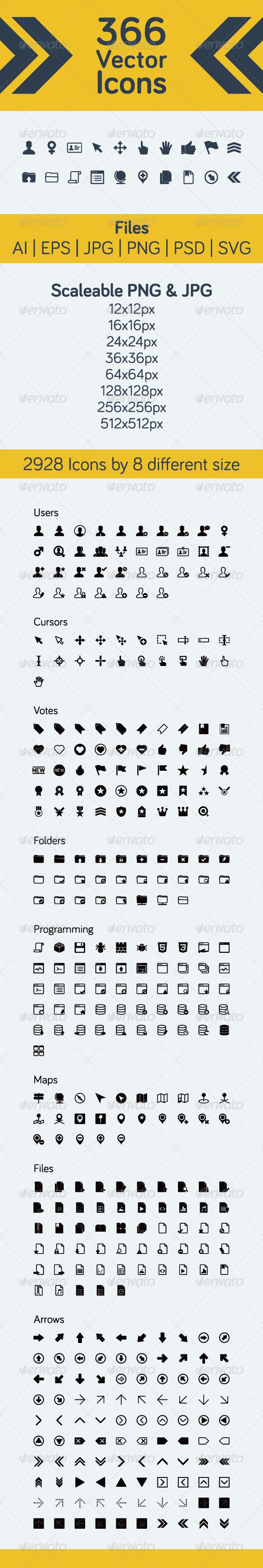 366 Vector Icons - Icons