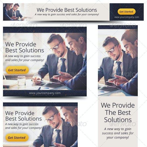 Corporate Web Banner Design Template 34
