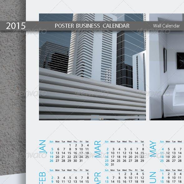 Poster Business Calendar Template 2015 (2014)