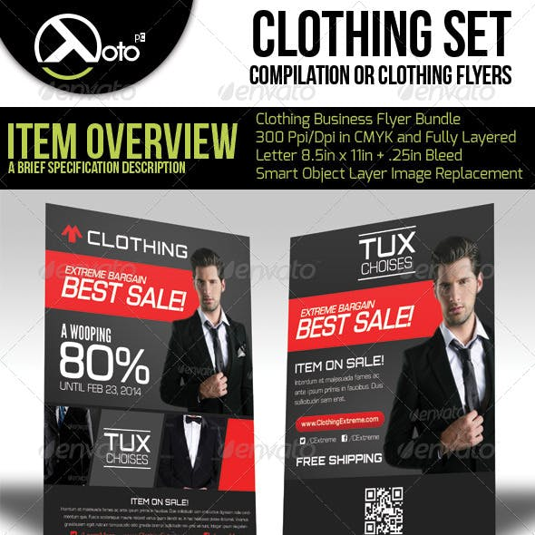 Clothing Store Flyer Bundle Set