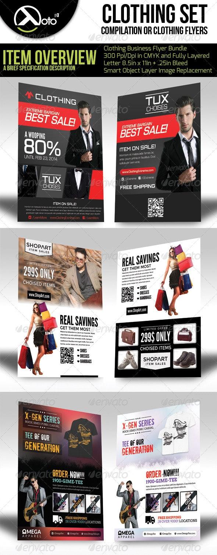 Clothing Store Flyer Bundle Set  - Flyers Print Templates