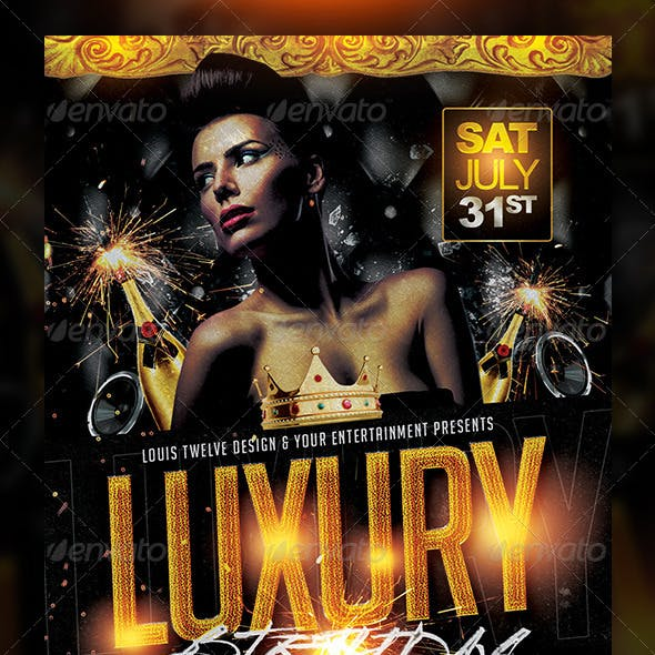 Luxury Birthday / Golden Night Flyer Template