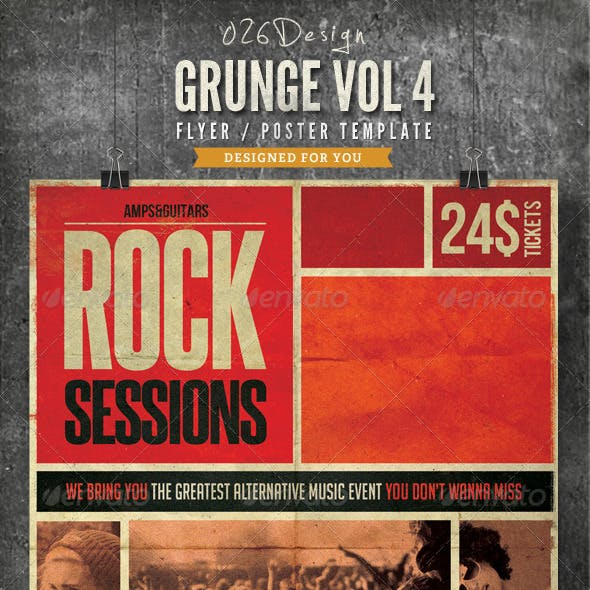 Grunge Poster / Flyer Vol IV