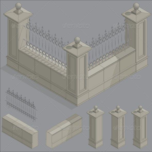 Isometric Fence, Construction Kit
