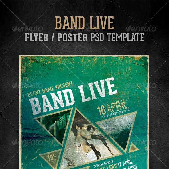 Band live flyer/poster