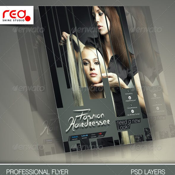 Hair Salons Flyer Template