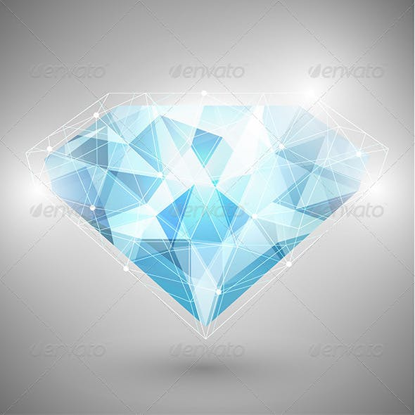 Abstract Diamond with Outlines