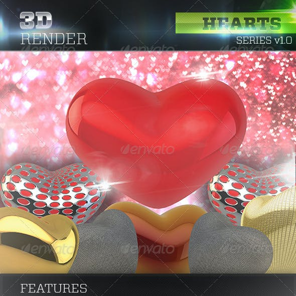 3D Hearts Pack