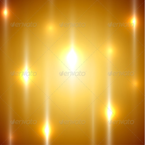 Golden Lights Abstract Background  - Abstract Conceptual