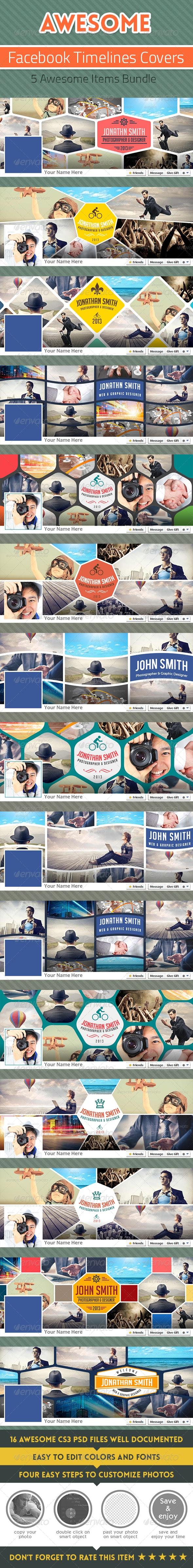 Bundle - Facebook Timelines Covers - Facebook Timeline Covers Social Media