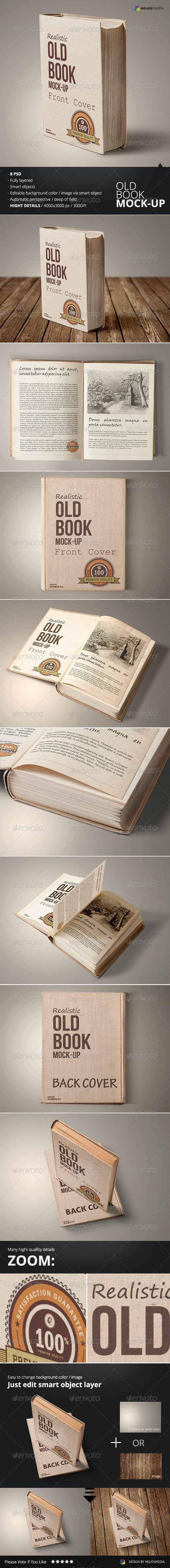Old Book Mockup - Books Print