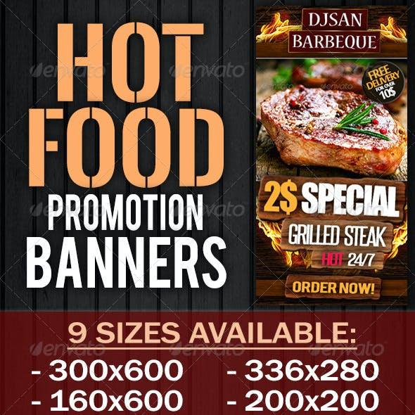 Hot Food Promotion Banner