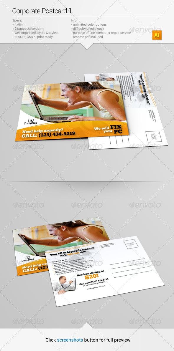 Corporate Postcard 1 - Corporate Flyers