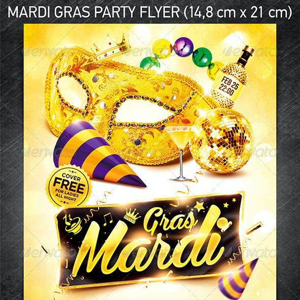 Mardi Gras Party Flyer Vol.3