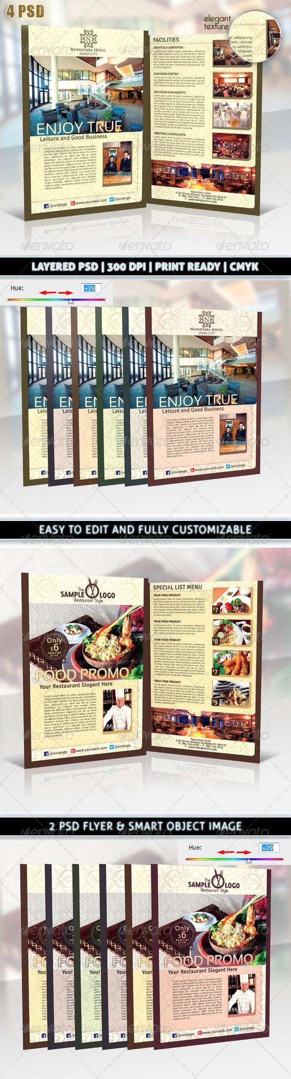 Hotel or Restaurant Elegant Promotion Flyer - Corporate Flyers