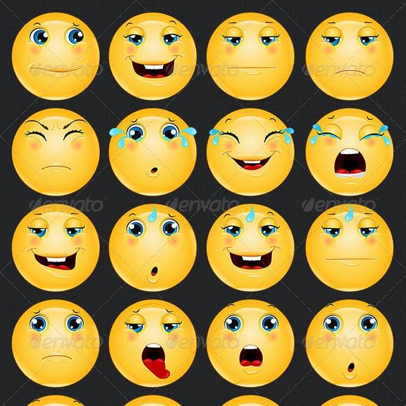 Emoji / Emoticon Sad Icons Set