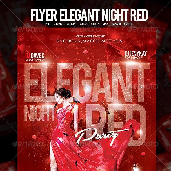 Flyer Elegant Night Red