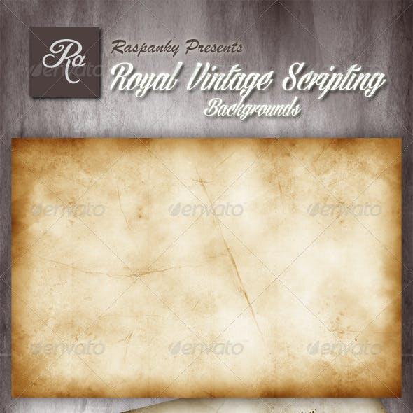 Royal Vintage Script Writing Backgrounds