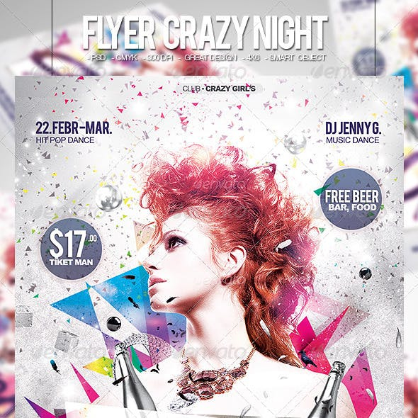 Flyer Crazy Night