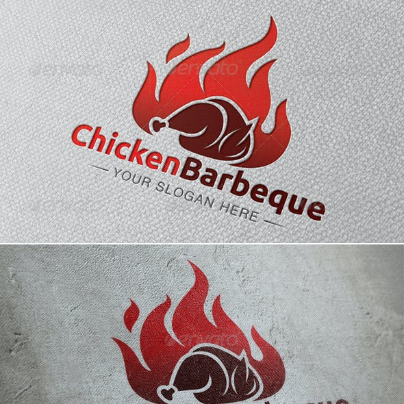 Chicken Barbeque Logo Template