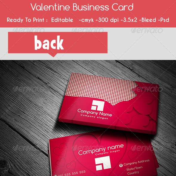 Valentine's Day Business Card