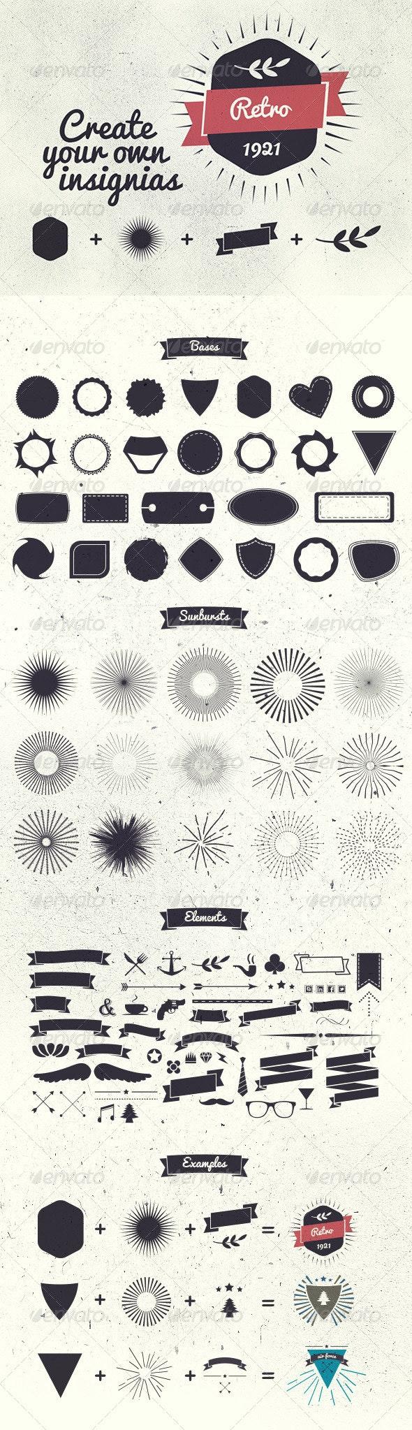 Badge Creator Kit - Decorative Vectors