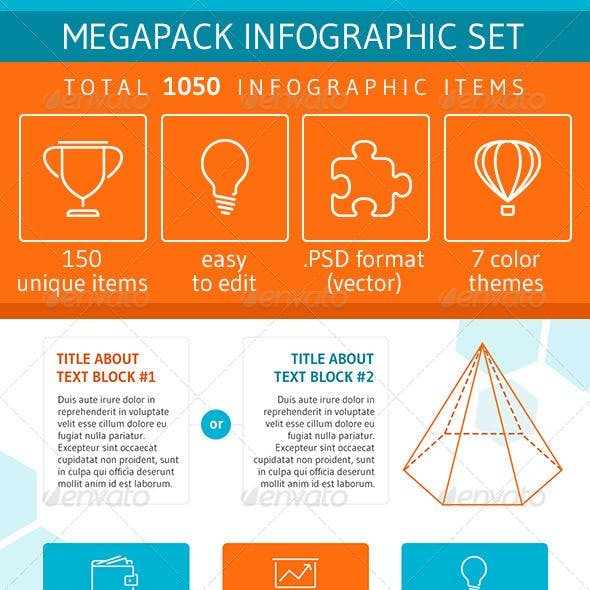 Megapack Infographic Set