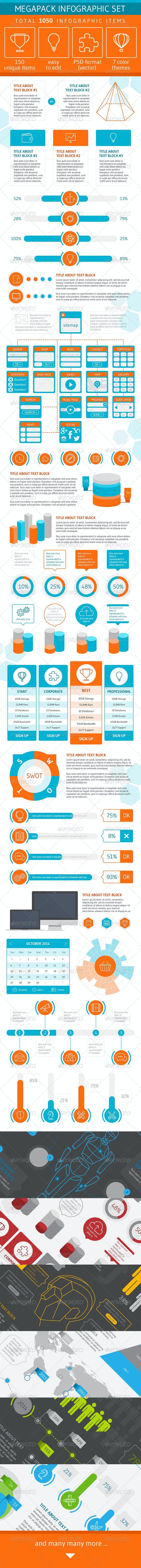 Megapack Infographic Set - Infographics