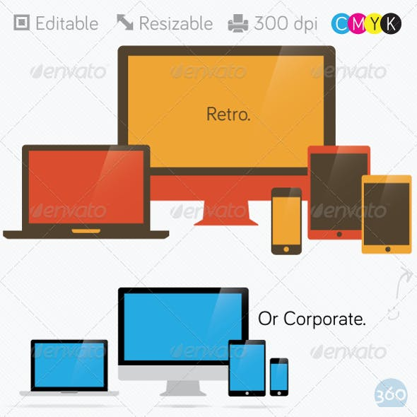 Flat Computer, Laptop, Tablet, Phone Devices