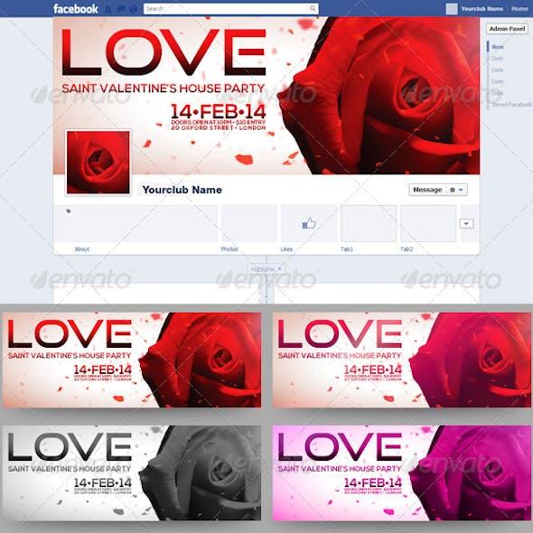 Saint Valentine's FB Timeline Cover 4 in 1