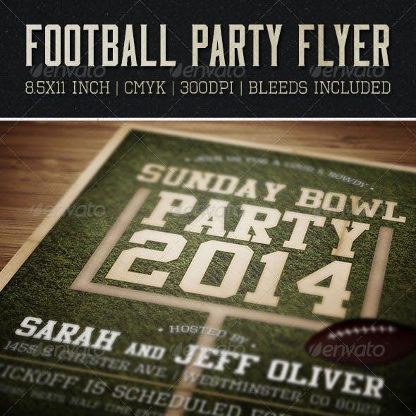 Sunday Bowl Flyer & Invitation