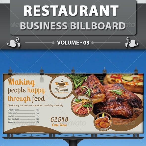 Restaurant Business Billboard | Volume 3