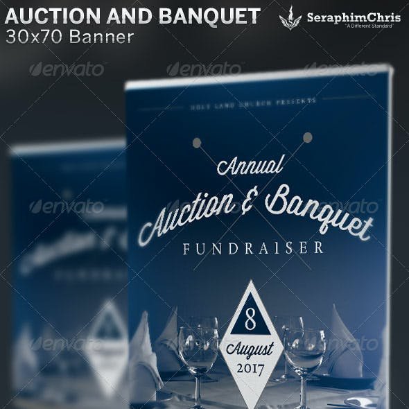 Auction and Banquet Fundraiser: Banner Template