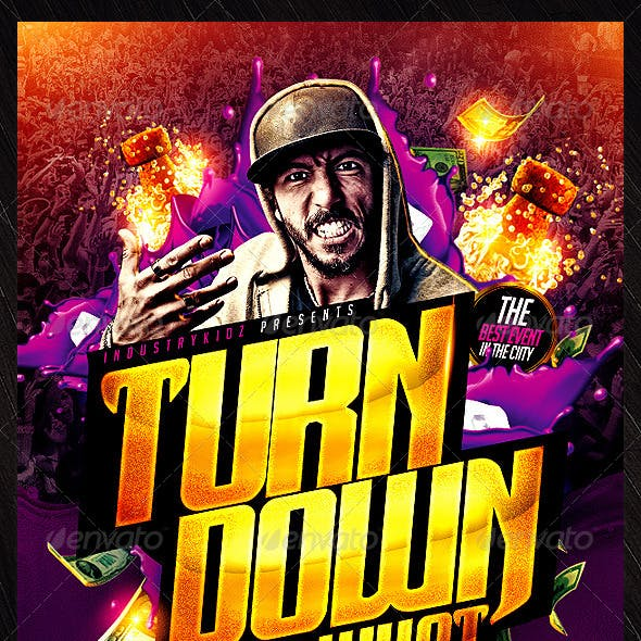 Turn Down for What Flyer Template