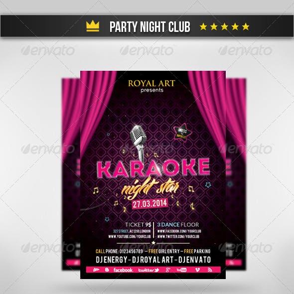 Karaoke Party Flyer