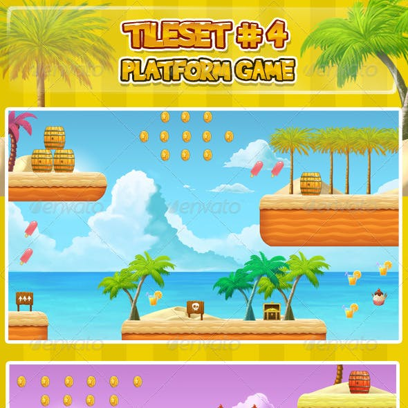 2D Tileset Platform Game 4
