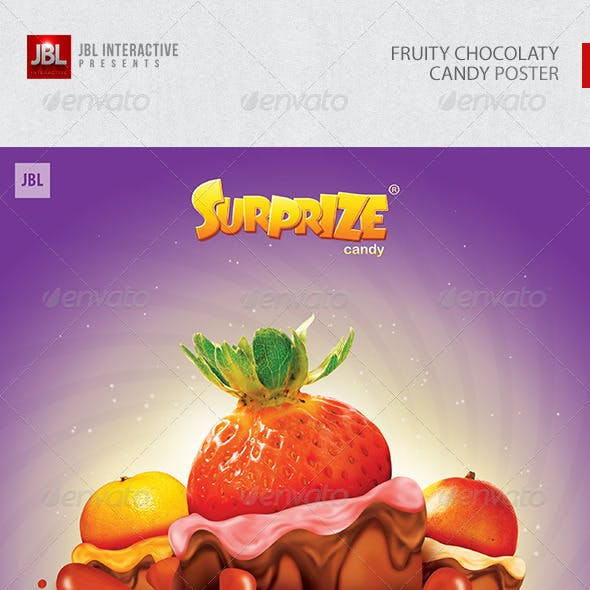Fruity Chocolaty Candy Poster