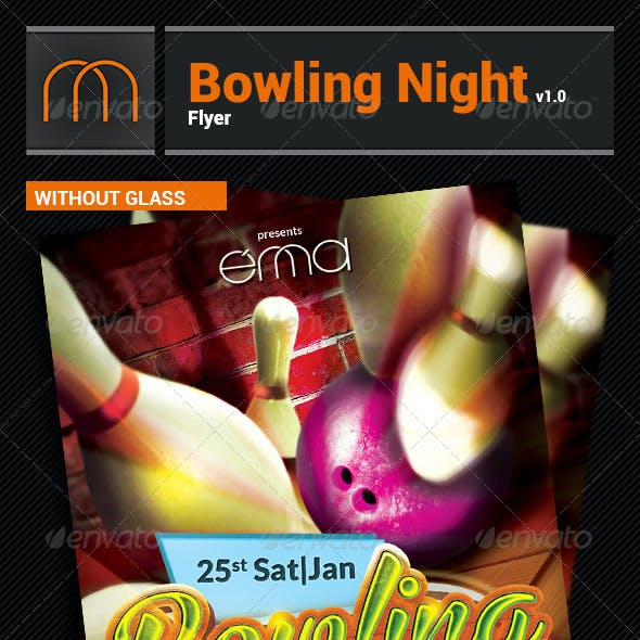 Bowling Game Night - Flyer