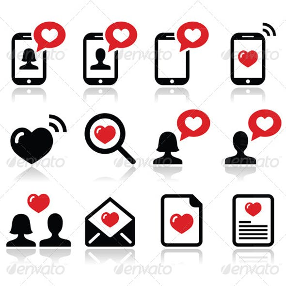 Valentine's Day Icons Set
