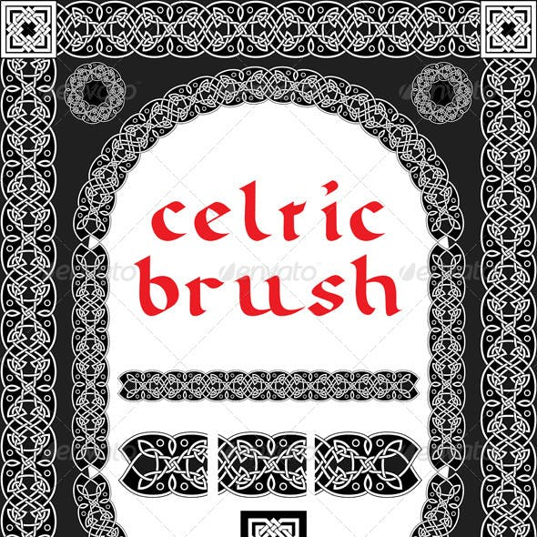 Celtic Brush for Frame and Design