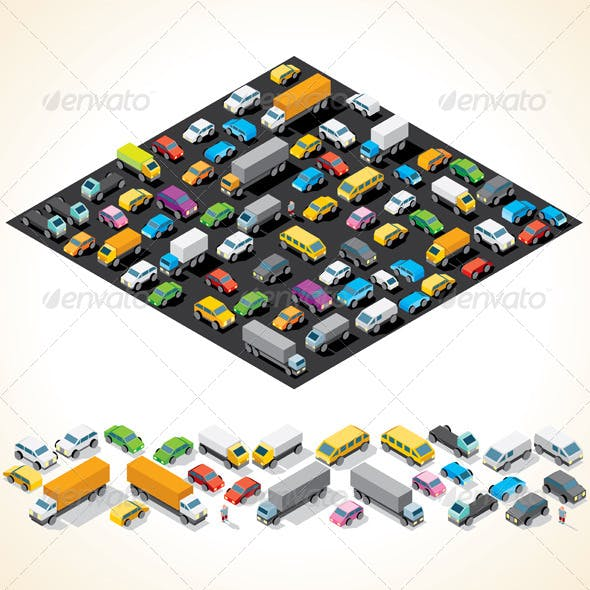 Isometric Car Parking with Automobiles