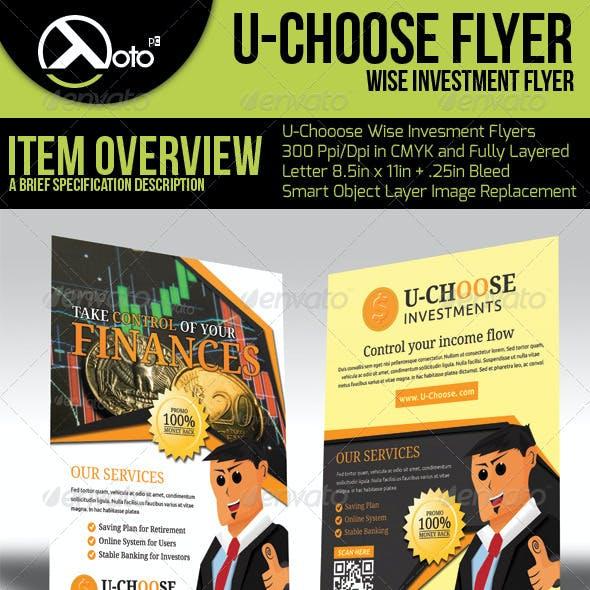 U Choose Online Investment Flyers