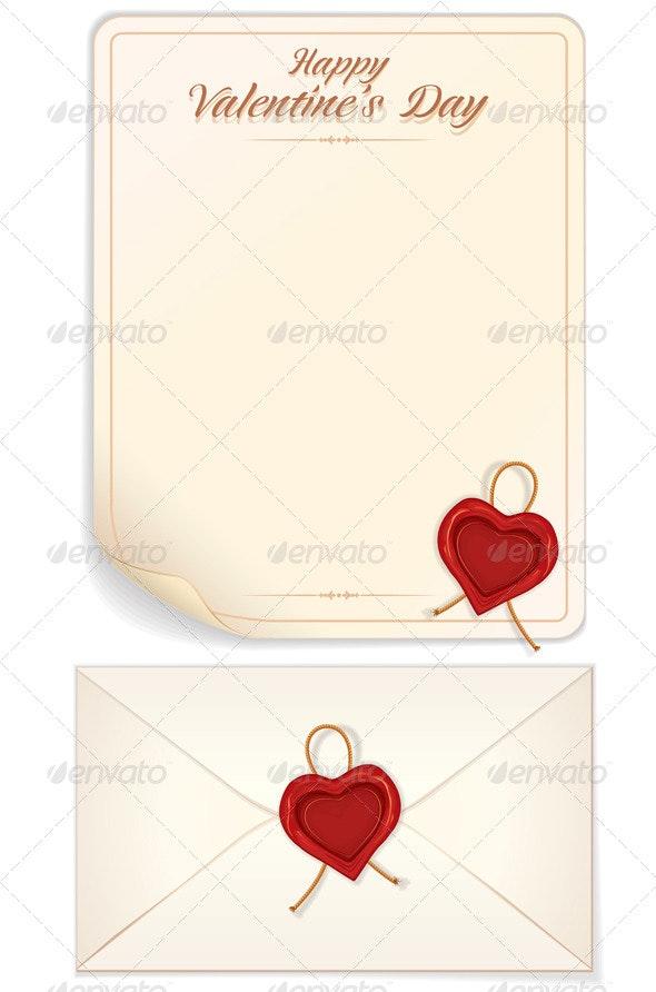 Valentine Day Love Letter Print Template - Valentines Seasons/Holidays