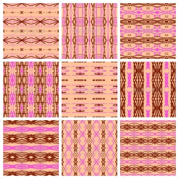 Set of Nine Tribal Patterns - Patterns Decorative