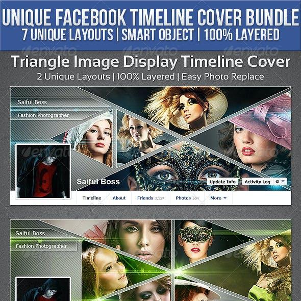 3 Unique Facebook Timeline Cover Bundle