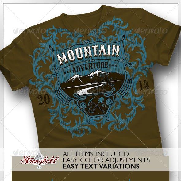 Mountain Adventure T-shirt Event Template