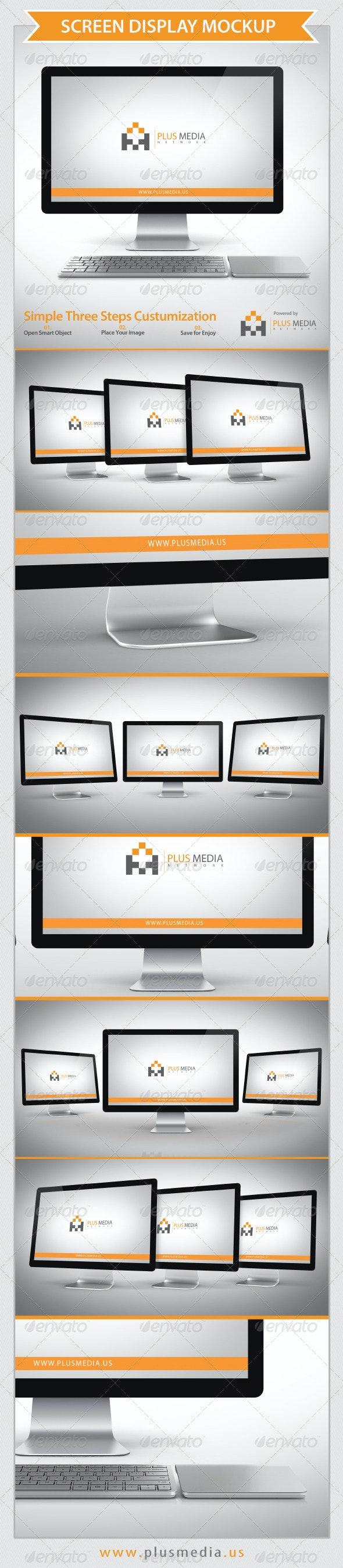 Screen Display Mockup - Product Mock-Ups Graphics